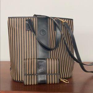 Vintage Fendi Bucket Bag with Keychain Wallet